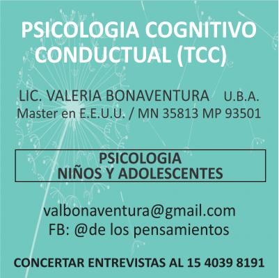 LIC. VALERIA BONAVENTURA