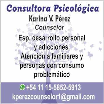 Consultora psicológica Karina Pérez